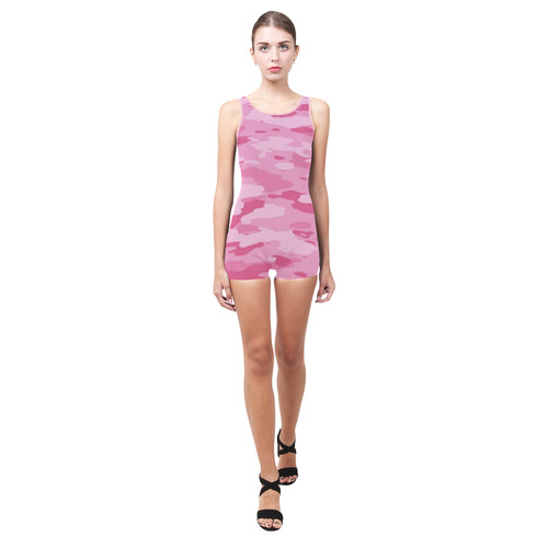 Pink Camo Classic One Piece Swimwear (Model S03)