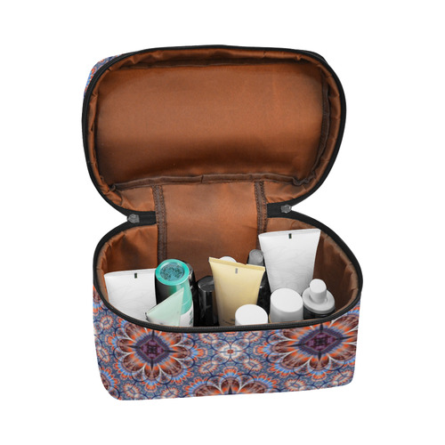 Boho Vintage Inspired 2 Cosmetic Bag/Large (Model 1658)