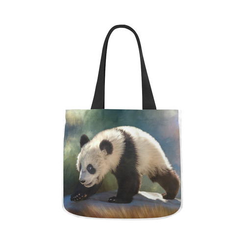 f53bb4f0e A cute painted panda bear baby. Canvas Tote Bag 02 Model 1603 (Two sides)    ID: D1404881