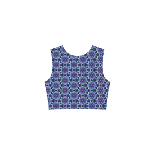 Boho - Abstract Floral Tethys Half-Sleeve Skater Dress(Model D20)