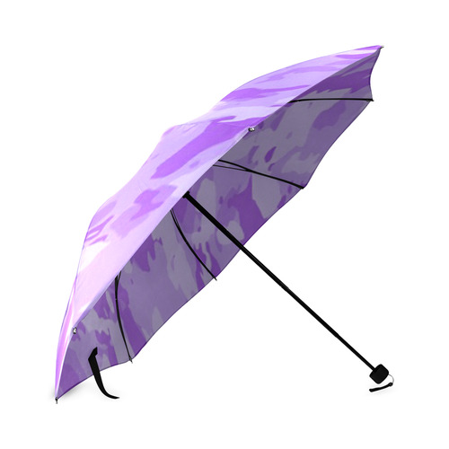 Purple Camo Foldable Umbrella