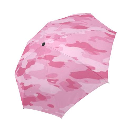 Pink Camo Auto-Foldable Umbrella