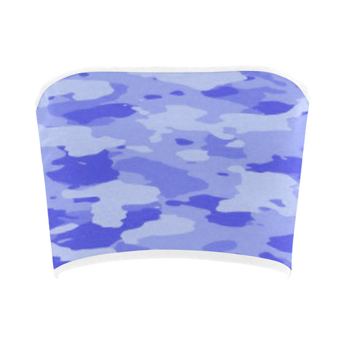 Blue Camo Bandeau Top