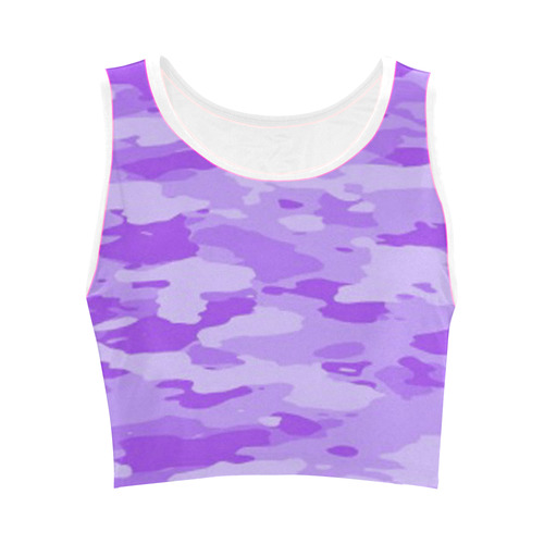 Purple Camo Women's Crop Top (Model T42)