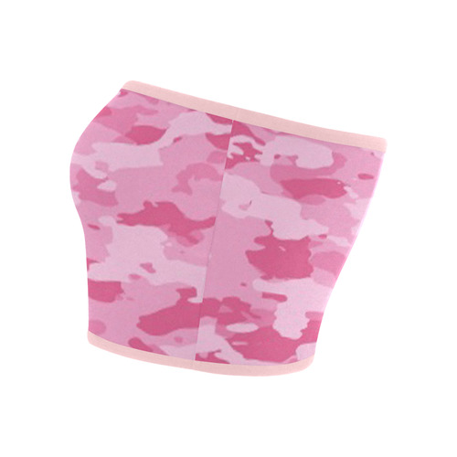 Pink Camo Bandeau Top