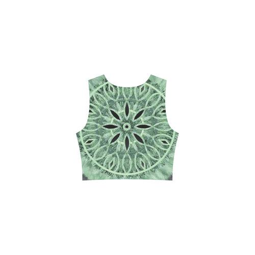 ... Faux Stitch   Fur mint green 3D decoration Thea Sleeveless Skater Dress( Model ... 4e0e010c2
