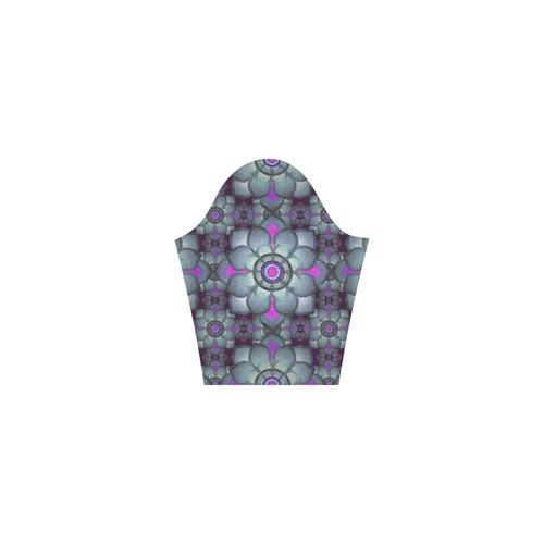Hot Pink and teal pattern Tethys Half-Sleeve Skater Dress(Model D20)
