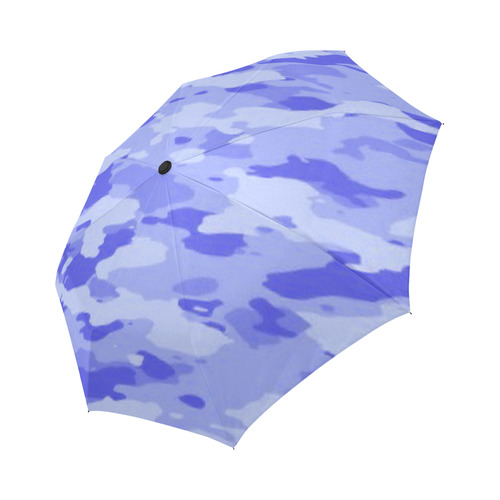 Blue Camo Auto-Foldable Umbrella