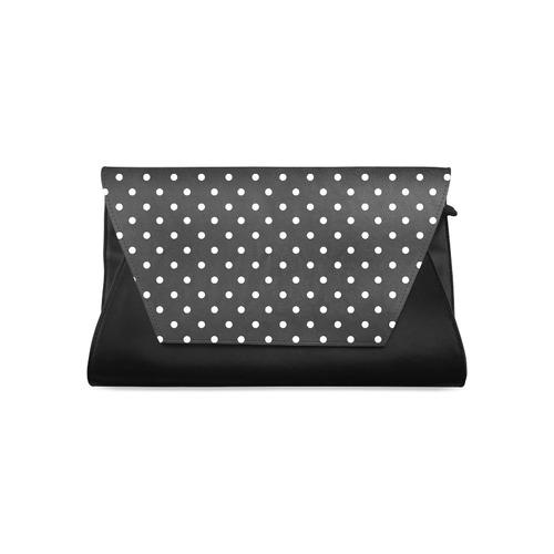 Black And White Polka Dots On Clutch Bag Model 1630 Id D1407756