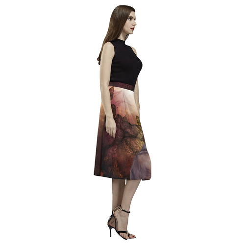 Beautiful wolf in the night Aoede Crepe Skirt (Model D16)