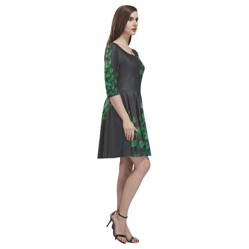 Vines, climbing plant watercolor Tethys Half-Sleeve Skater Dress(Model D20)