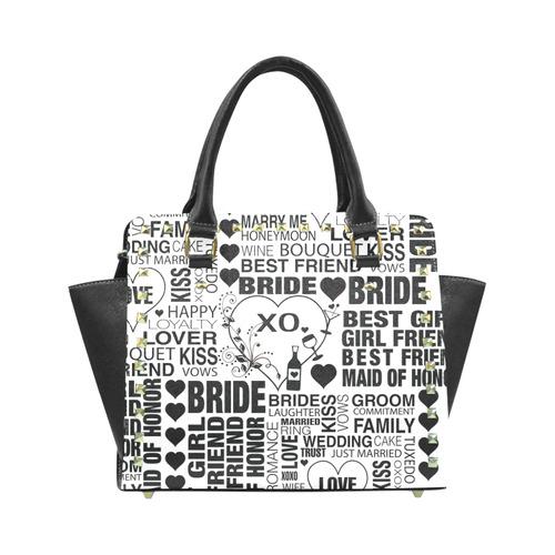 Wedding Day Handbag Bride Print Bachelorette Party Purse By Juleez Rivet Shoulder Model 1645