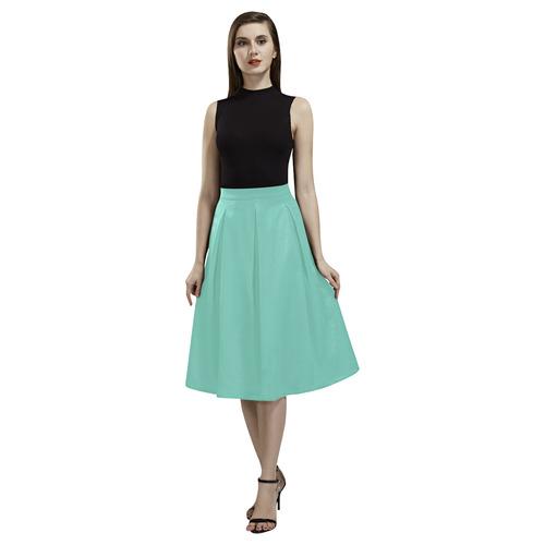Lucite Green Aoede Crepe Skirt (Model D16)