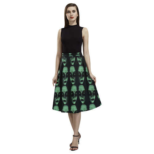 Gothic perfection green Aoede Crepe Skirt (Model D16)