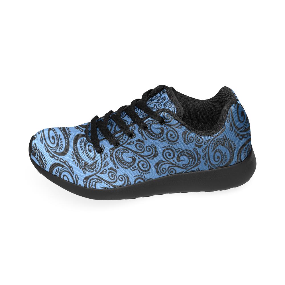 Scandinavian Peacock Black Blue Women S Running Shoes