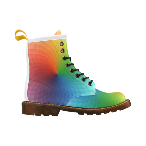 color wheel for artists , art teacher High Grade PU Leather Martin Boots For Women Model 402H