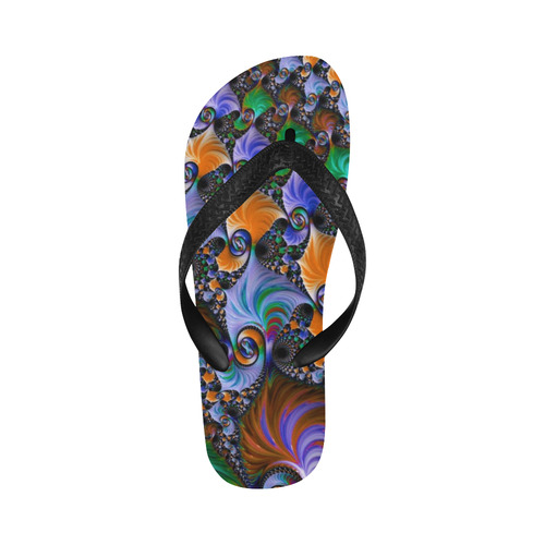 awesome fractal 33C Flip Flops for Men/Women (Model 040)