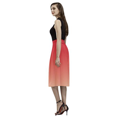 Red Ombre Gradient Aoede Crepe Skirt (Model D16)