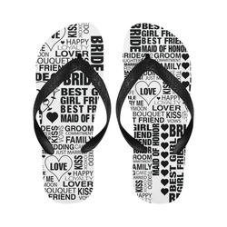 Print Flip Flops Bride Wedding Print Honeymoon Flip Flops Gift Flip Flops For Men Women