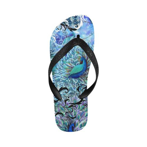 Print Flip Flops Peacock Colorful Art Beach Shoes Flip Flops for Men/Women (Model 040)