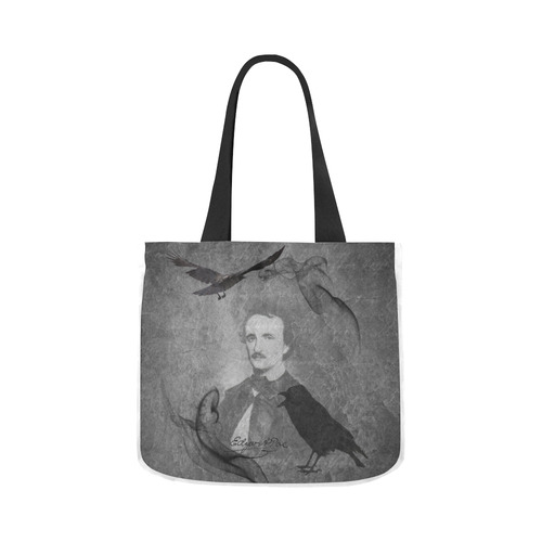 9f1918bbf2 E.A. Poe - The Raven Canvas Tote Bag 02 Model 1603 (Two sides)