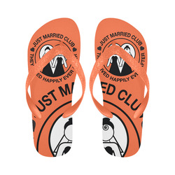 3d2a8f5ef Wedding Print Flip Flops Just Married Bride Lgbt Print Flip Flops for  Men Women