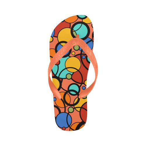 Pop Art Print Flip Flops Colorful Dot Print by Juleez Flip Flops for Men/Women (Model 040)