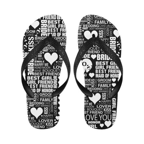 2d3c832e25ad1 Bride Wedding Flip Flops Bride Beach Shoes by Juleez Flip Flops for Men  Women (Model 040)