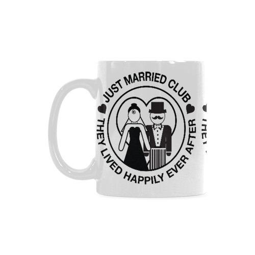 Wedding Gift Coffee Mug Bride Groom Coffee Cup by Juleez White Mug(11OZ)