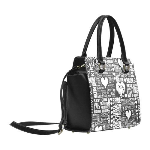 Bride Wedding Handbag by Juleez Print Purse Classic Shoulder Handbag (Model 1653)