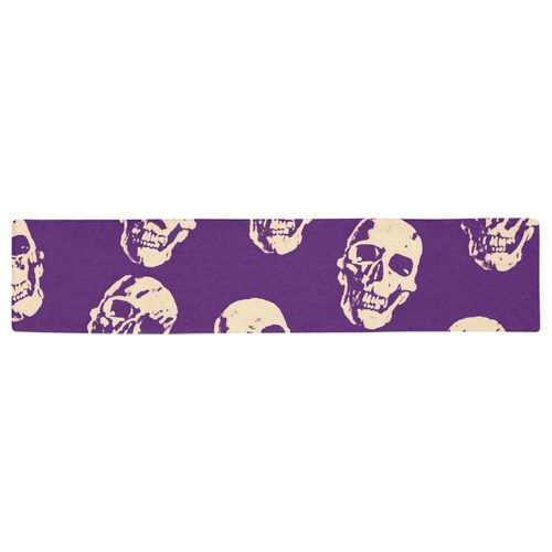 Hot Skulls,purple by JamColors Table Runner 16x72 inch
