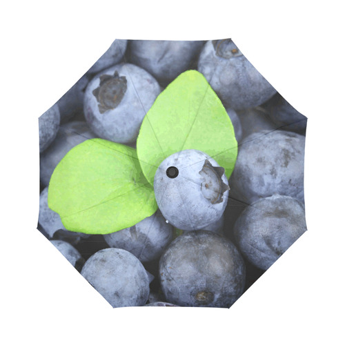 Blueberries Leaf Fruit Food Auto-Foldable Umbrella