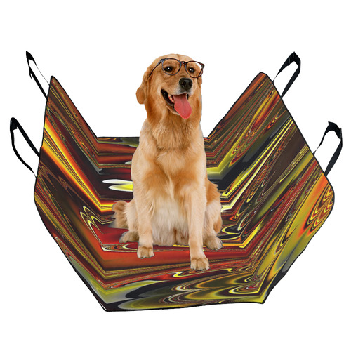 marbled fractal 417 A by JamColors Pet Car Seat 55''x58''