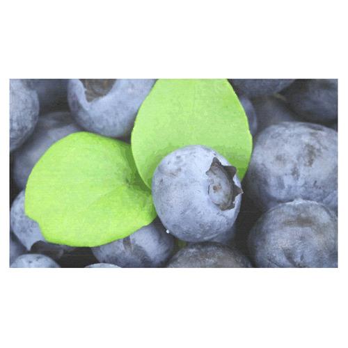 "Blueberries Leaf Fruit Food Cotton Linen Tablecloth 60""x 104"""