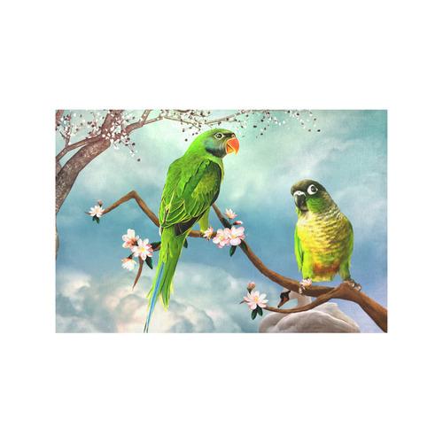 Funny cute parrots Placemat 12'' x 18'' (Six Pieces)