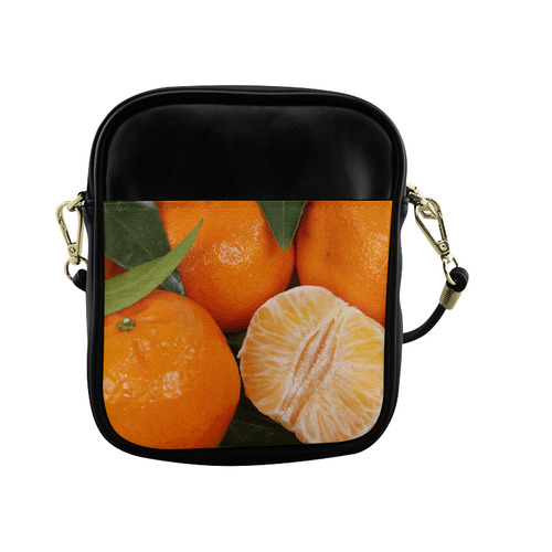 Oranges & Peeled Orange Fruit Sling Bag (Model 1627)