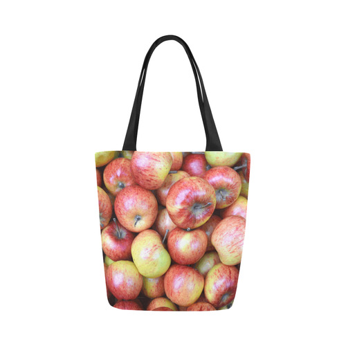 Autumn Apples Red Green Fruit Canvas Tote Bag (Model 1657)