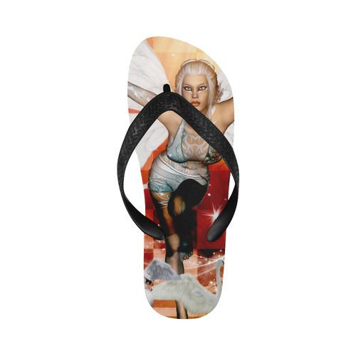 The swan fairy Flip Flops for Men/Women (Model 040)