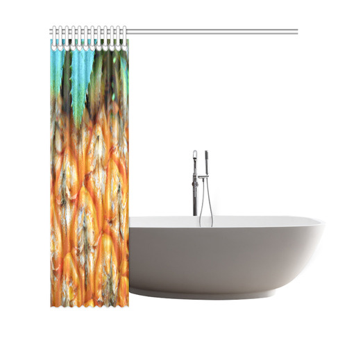 "Pineapple Fruit Shower Curtain 69""x72"""