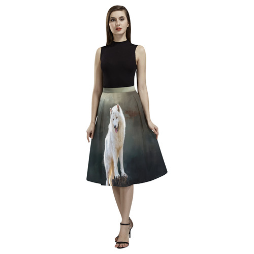 A wonderful painted arctic wolf Aoede Crepe Skirt (Model D16)