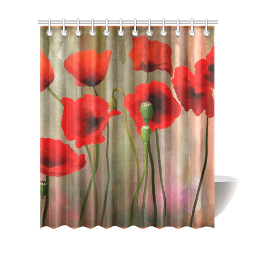 Poppies Shower Curtain 72x84