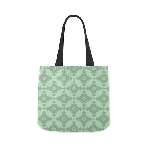 Mint Green Geometric Tile Pattern Canvas Tote Bag 02 Model 1603 Two Sides Id D1427104
