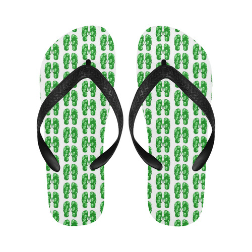 funny little artsadd flipflops Flip Flops for Men/Women (Model 040)