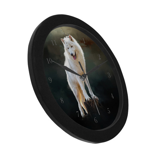 Golden glitter texture with black background Circular Plastic Wall clock