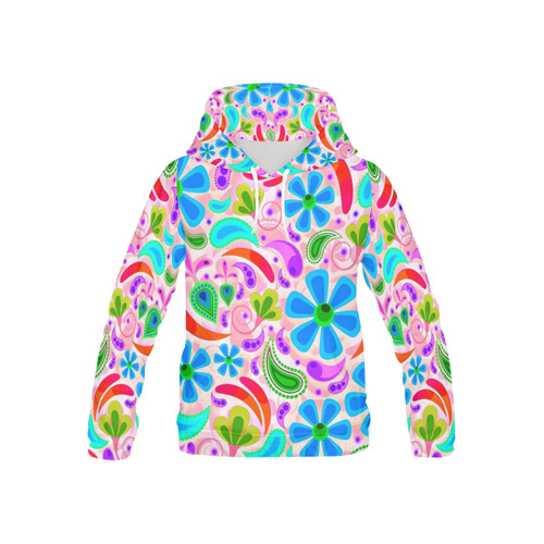 floral pattern 1116 D All Over Print Hoodie for Kid (USA Size) (Model H13)