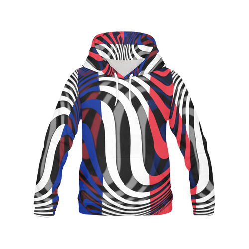 The Flag of France All Over Print Hoodie for Women (USA Size) (Model H13)