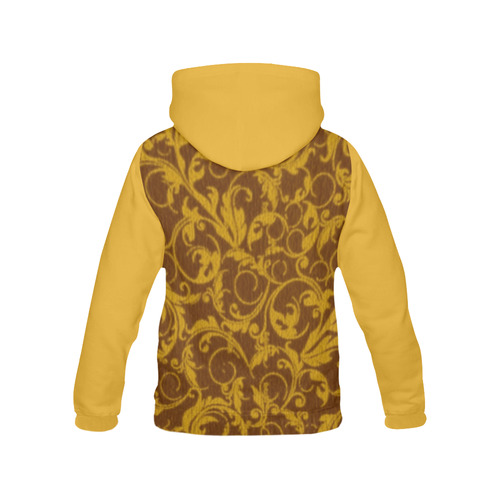 Vintage Swirls Mango All Over Print Hoodie for Women (USA Size) (Model H13)