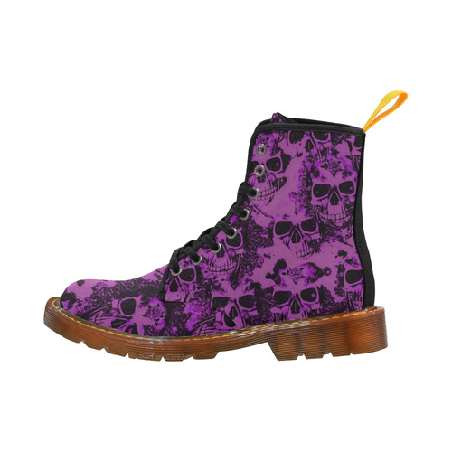 cloudy Skulls black purple by JamColors Martin Boots For Women Model 1203H