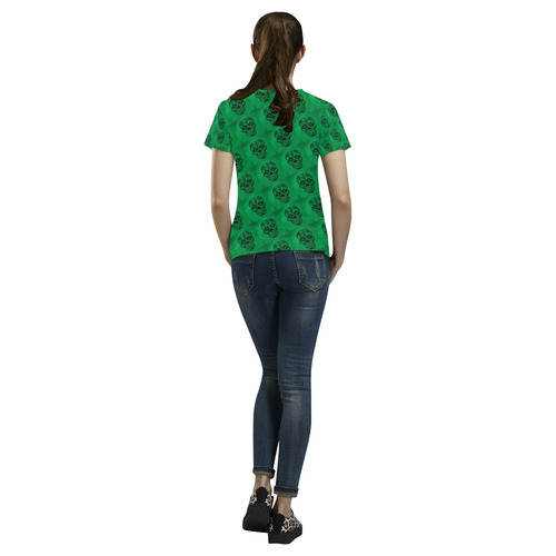 Skull20170404_by_JAMColors All Over Print T-Shirt for Women (USA Size) (Model T40)