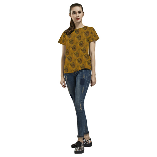 Skull20170401_by_JAMColors All Over Print T-Shirt for Women (USA Size) (Model T40)